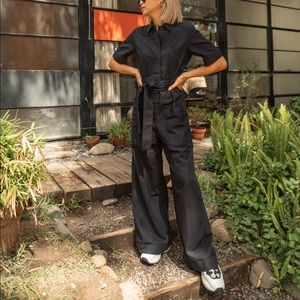 Functional belted jumpsuit